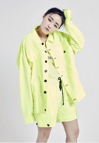 NINETEENEIGHTY yellow 80 Wappen Field Jacket NI195AA32XBJSG_1