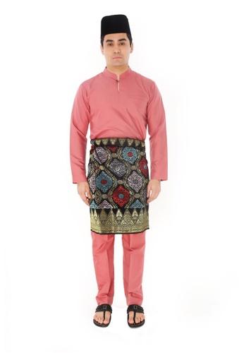 Amar Amran pink Baju Melayu Gumbae D3F5FAA5B98B72GS_1