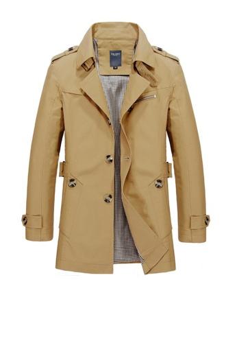Twenty Eight Shoes brown VANSA Fashion Washed Windbreaker Coat VCM-C1306 423DFAA13FF8A4GS_1