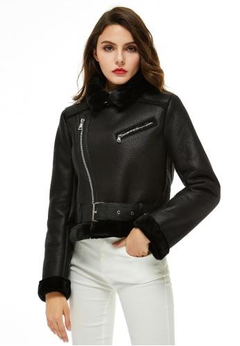 London Rag black Faux Leather Biker Jacket 552A4AA5AE740BGS_1