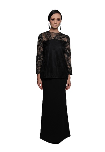 Aafiyah Kurung from Cahaya Lily in Black
