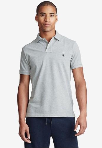 Polo Ralph Lauren grey Slim Fit Cotton Polo Shirt 494B8AABE34C80GS_1