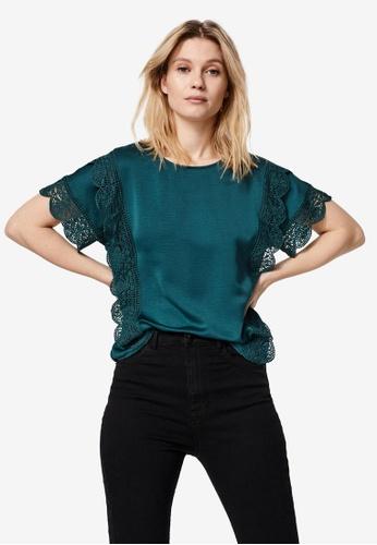 Vero Moda green Peri Short Sleeves Top CCD36AAEEC0D57GS_1