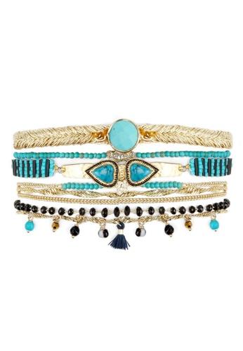 HIPANEMA black and blue and multi and gold Cuff Splendor Turquoise 0CC06AC32CE42AGS_1