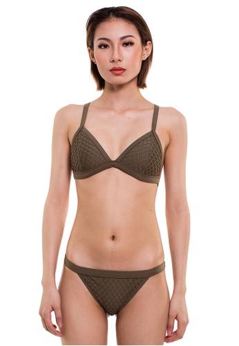 Reoparudo green Reoparudo Big Mesh Triangle Bikini Swim Set (Army Green) RE413US0FVJ4SG_1