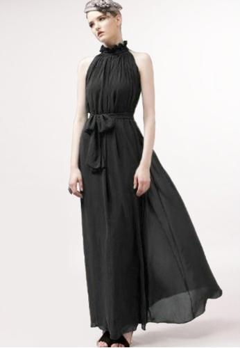 Twenty Eight Shoes black VANSA Chiffon Maxi Dress  VCW-D0183 01507AABBBDED3GS_1