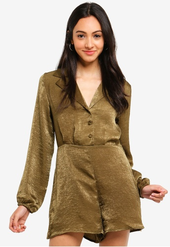 dd290bb898 Buy Cotton On Woven Alexis Long Sleeved Playsuit Online on ZALORA ...
