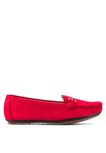 Noveni red Buckle Detail Loafers NO978SH44EOTMY_1