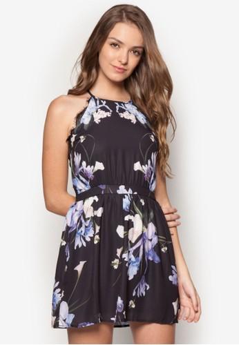Ikebana 削肩印花洋裝、 服飾、 印花時代SomethingBorrowedIkebana削肩印花洋裝最新折價