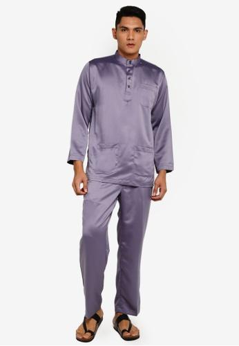 Gene Martino grey Tradisional Baju Melayu FD823AA6794D8AGS_1