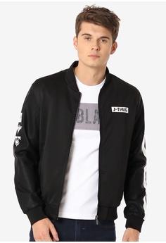 a6fe67d13fa2 JAGTHUG black Boys Moto Fit Graphic Jacket 2B04FAA7D9A3E9GS_1