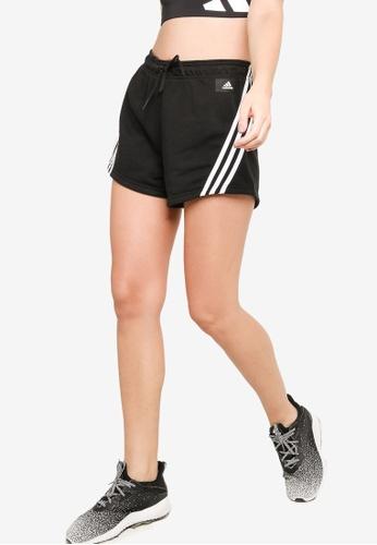 ADIDAS black adidas sportswear future icons 3-stripes shorts 48E20AA6A846E3GS_1