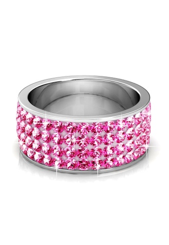 Her Jewellery pink Roller Ring (Light Pink) - Made with premium grade crystals from Austria HE210AC88XTRSG_1