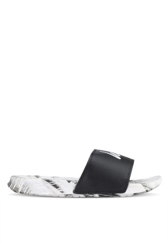 Just Hype black and white Wall Run Sliders 92BF8SHCA1D700GS_1