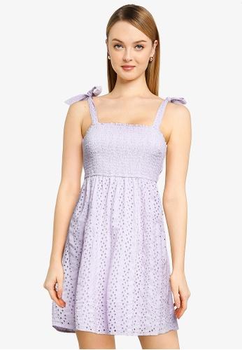 Hollister purple Bare Schiffley Dress ECB5BAAF18B8FAGS_1