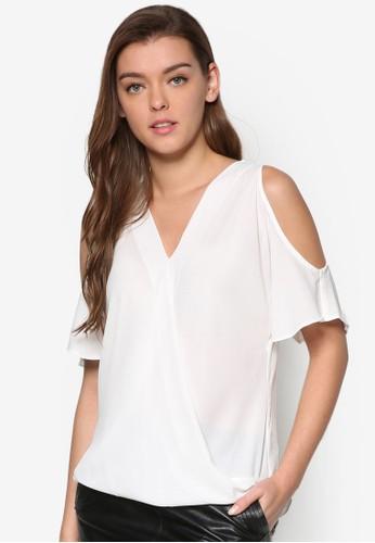 挖肩裹飾短袖T-shirt、 服飾、 上衣NewLook挖肩裹飾短袖上衣最新折價