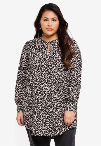 Only CARMAKOMA black Plus Size Long Sleeve Top 44AFAAAD7EE3FDGS_1