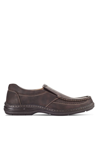 Louis Cuppers brown Casual Slip Ons LO977SH12VOHMY_1