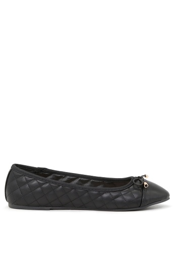 London Rag black Black Lined Petunia Ballerina Flats SH1692 26934SHCF3336CGS_1