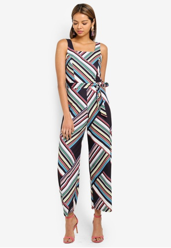 1cc9359b1fa Miss Selfridge black and multi Petite Multi Bold Stripe Jumpsuit  3610FAA97F57B7GS 1