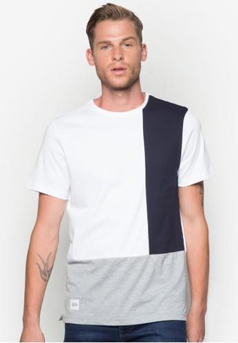 色塊圓領T 恤esprit au, 服飾, T恤