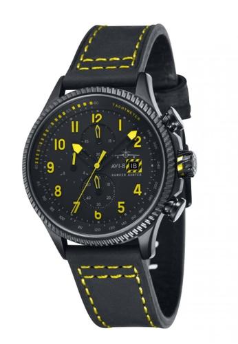 AVI-8 black Hawker Hunter Leather/Nylon Nato Strap Watch AV642AC54JSJPH_1