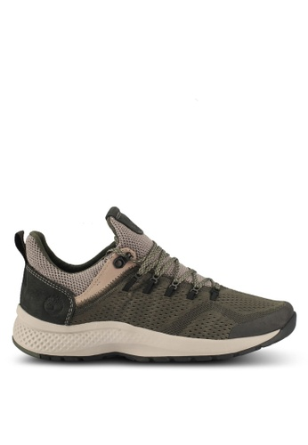 Timberland green Flyroam Trail Low Fabric Shoes 9A11ESHBC973B0GS_1