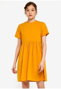 ed743fd6683c ZALORA BASICS yellow Basic Babydoll Dress 22CFEAA028BA7AGS_1