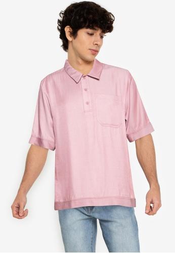 ZALORA BASICS red Polo Short Sleeve Shirt DD9DCAA28A362FGS_1