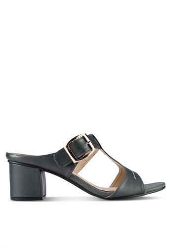 Spiffy black Buckle Block Heels SP352SH0RNN2MY_1