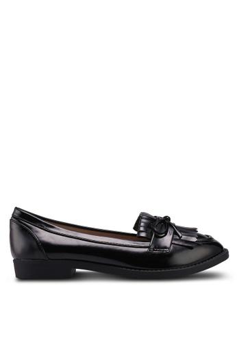 Dorothy Perkins black Wide Fit Black Lotta Loafers 7314ESH9F639F8GS_1