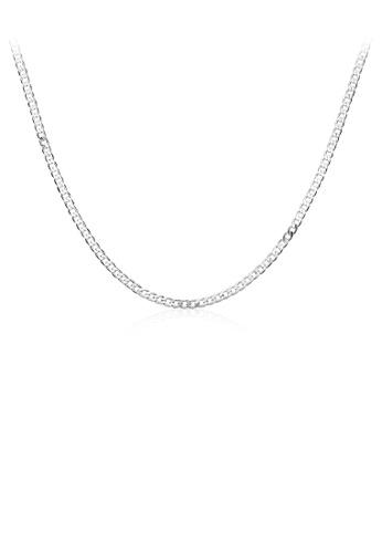 Glamorousky silver Simple Geometric Sideways Necklace 25E79ACC42B68CGS_1