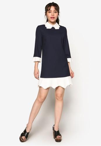 撞色拼接連身裙,esprit 衣服 服飾, 洋裝