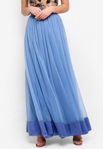 True Decadence blue Tulle Maxi Skirt 33187AAA5A7175GS_1