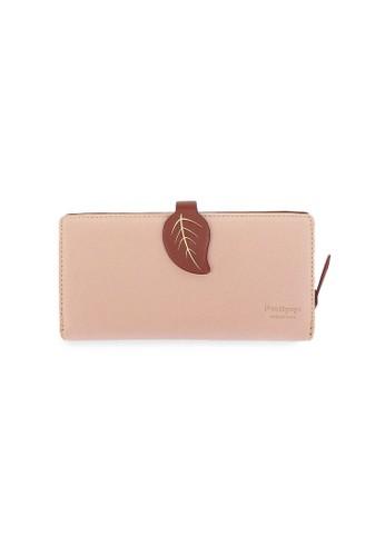 VERNYX - Woman's Pretty Zys Leaf Wallet DO349 Dark Brown - Dompet Wanita