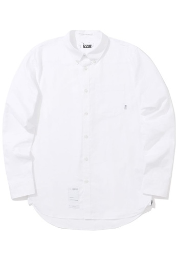 izzue white Patch detail shirt 7C4D3AADFE9982GS_1