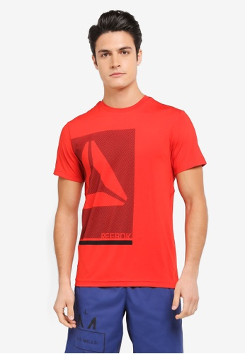 Reebok red Foundation Workout Ready Premium Graphic Tech Top RE691AA0SX4WMY_1