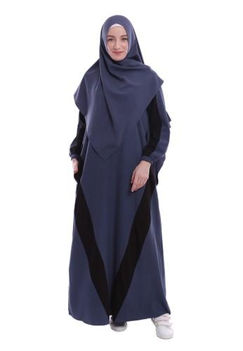 Yanna Azwar navy Sofiyah Dress Set Hijab-Navy C657EAAEB8C6EAGS_1
