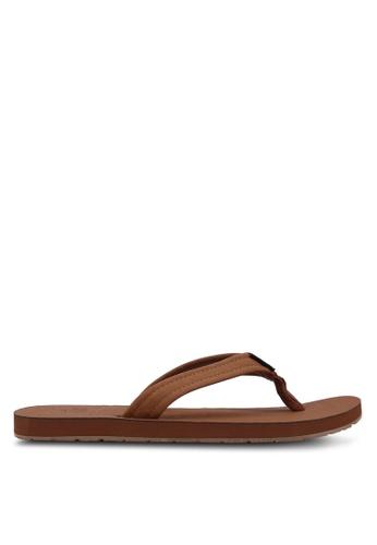 Hollister brown Faux Suede Flip Flops HO422SH04IMDMY_1