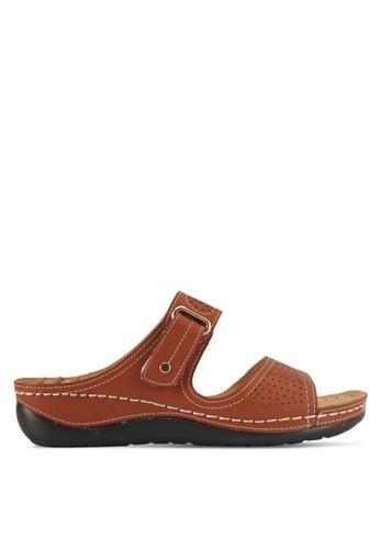 Alfio Raldo brown Strappy Sandals DEBE2SHE2187C3GS_1