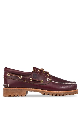 Timberland red Timberland Authentics 3-Eye Classic Lug Shoes TI845SH77NSCSG_1
