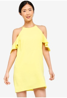 84148199526088 Basic Cold Shoulder Dress FBA9AAA92EB615GS 1 ZALORA BASICS ...