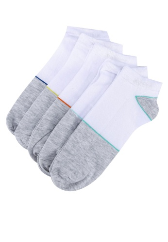 LC Waikiki multi 5-pack Figured Trainer Socks 76546AA7247644GS_1