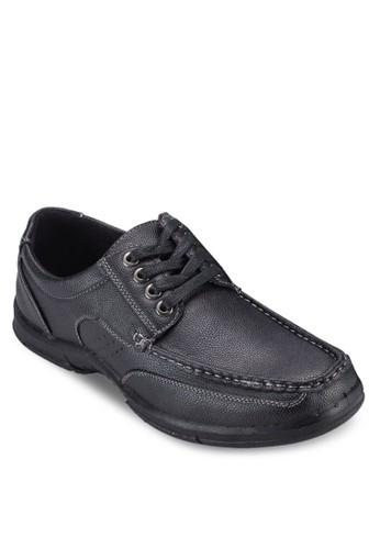 四眼繫帶仿皮esprit mongkok休閒鞋, 鞋, 鞋