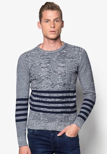 esprit 品牌條紋滾邊長袖織衫, 服飾, 外套