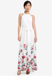 ZALORA white Placement Print Maxi Dress 6A1B1AA1690108GS_1