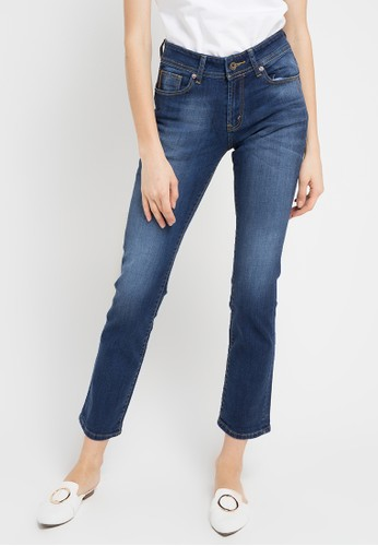 Lois Jeans blue Strigth High Rise Denim Stretch LO391AA0WO2ZID_1