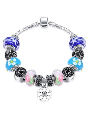 Treasure by B & D silver H051 Sakura Drop Pendant with   Charm Bracelet for Women TR022AC56EHNPH_1