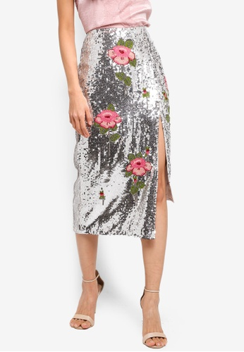 4bdf2090214d Buy TOPSHOP CTJ:Sequin Embellished Pencil Skirt Online | ZALORA Malaysia
