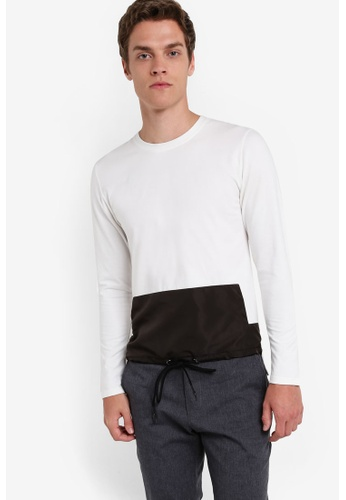 ZALORA white Deconstructed Long Sleeve Tee BC740AAAF0C487GS_1